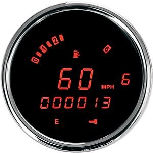 DAKOTA DIGITAL GAUGE SPEEDO 3-3 / 8红色 [2210-0155]