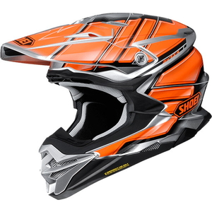 SHOEI VFX  -  WR GLAIVE [Bouyff X  -  Dave Ruhr Gray V TC  -  8 ORANGE