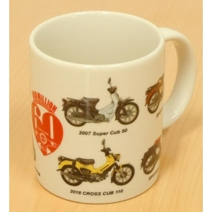 HONDA RIDING GEAR SUPER CUB 60th Anniversary Mug Cup